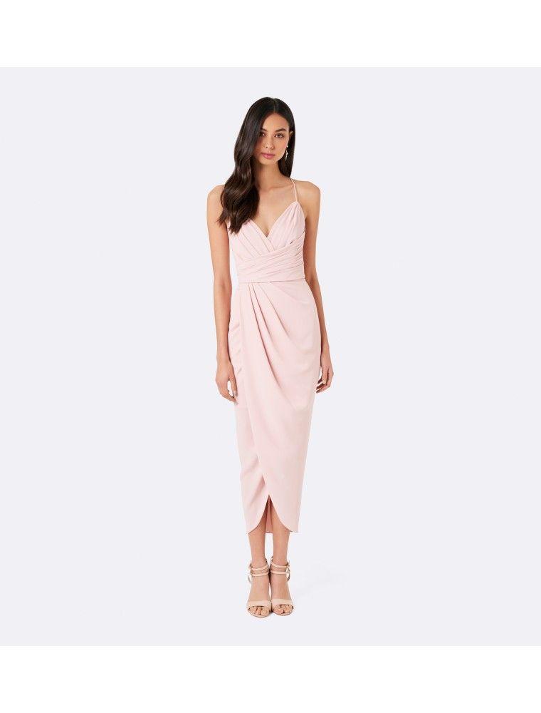 55ae3ca35a4 Option K) Charlotte Drape Maxi Dress Nude - Womens Fashion