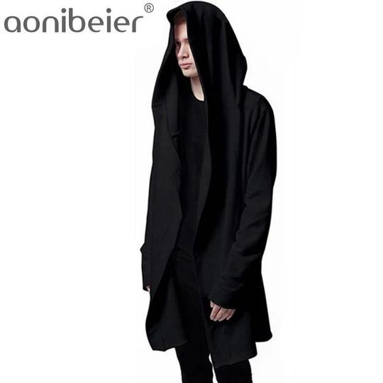 Fashion Coat Men Zipper Sweatshirt Hooded Hoodies Sweater Pullover Hip Hop Cloak