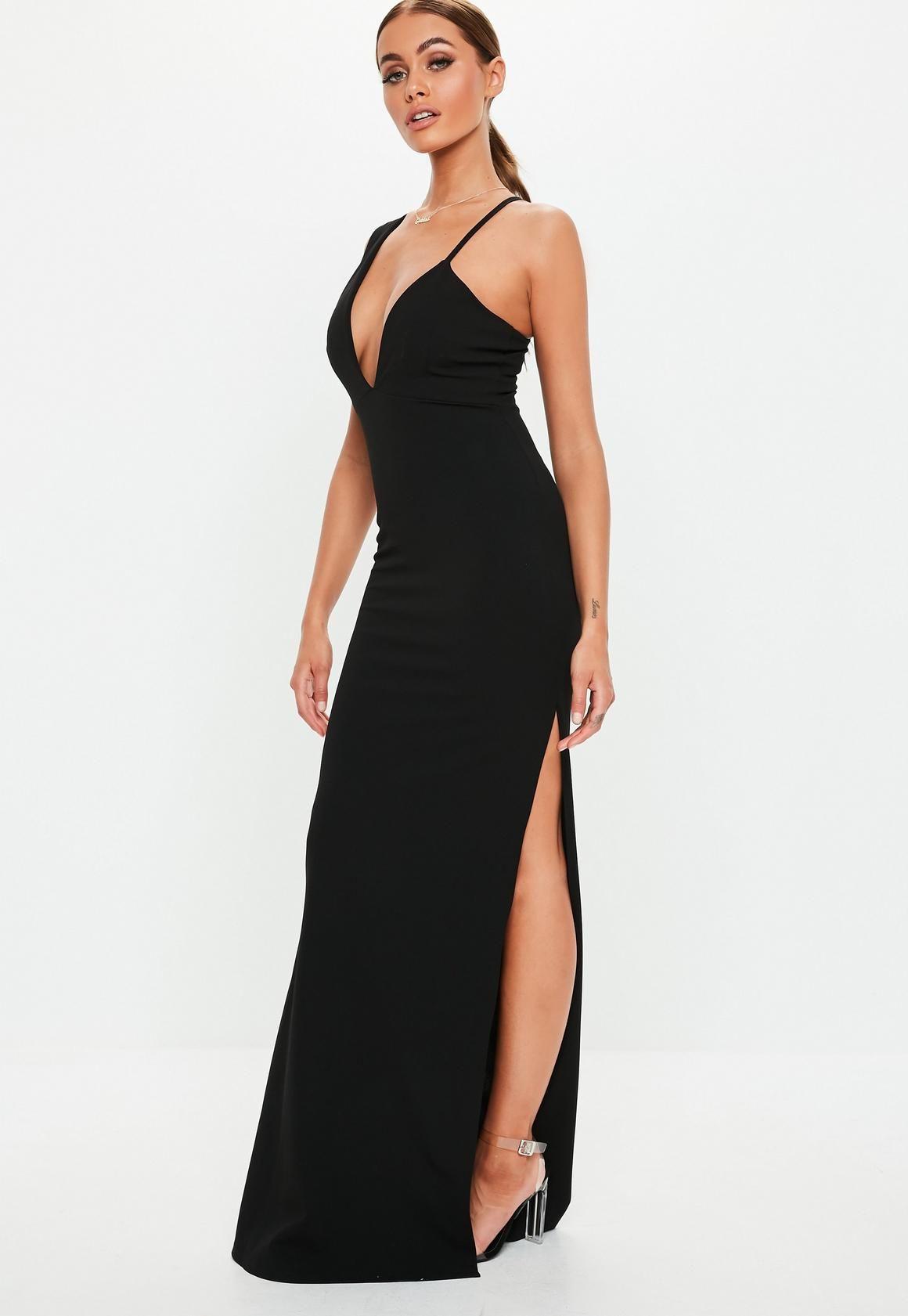 f0f5d392c28 Czarna sukienka maxi na jedno ramię w 2019
