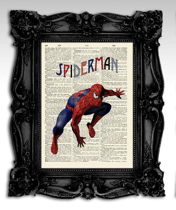 Spiderman  Original art illustration super by FashionArtStudio, $10.00