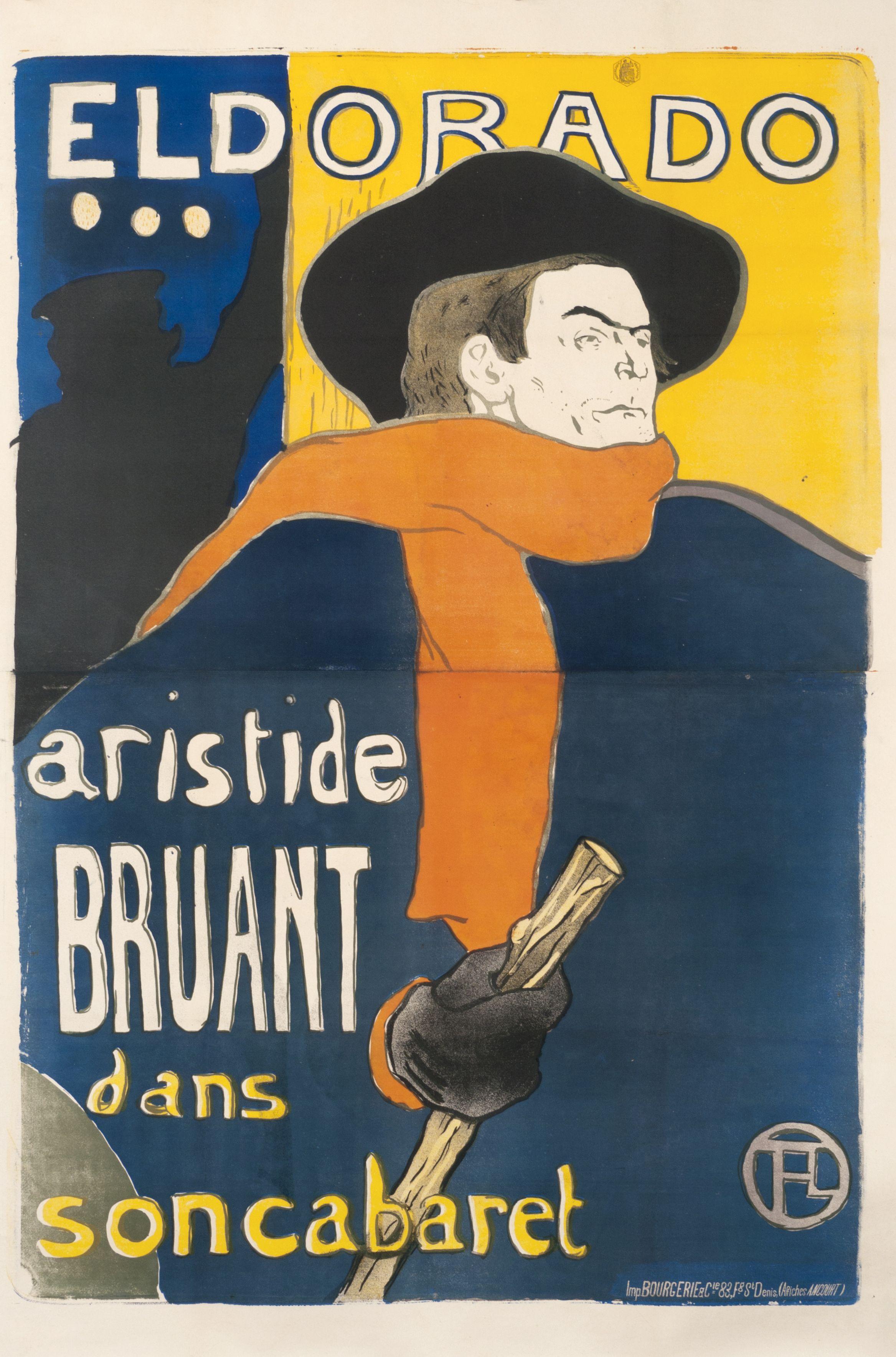 Toulouse Lautrec Henri Aristide Bruant Dans Son Cabaret 1894 Henri De Toulouse Lautrec Toulouse Lautrec Art Nouveau Poster
