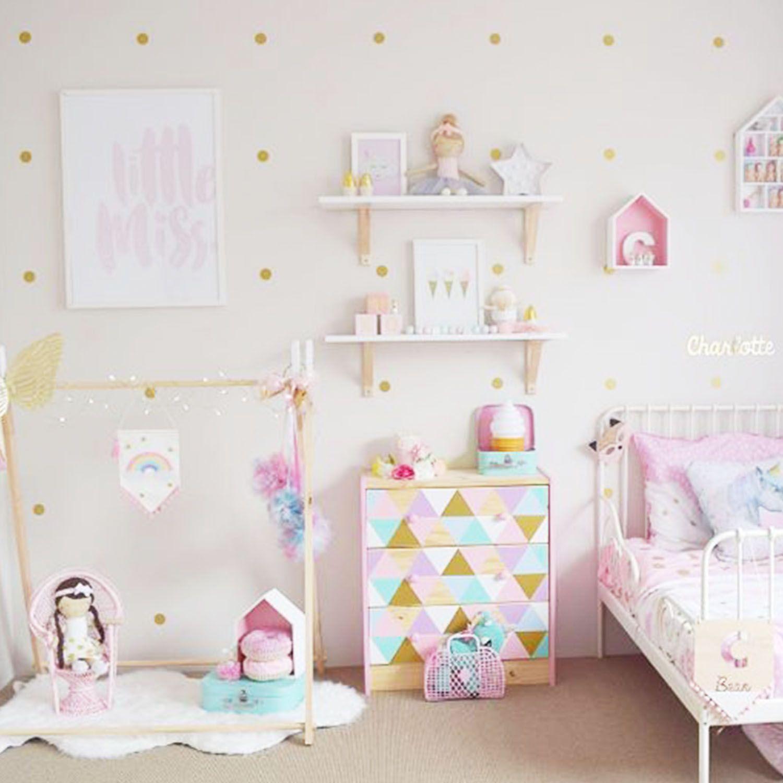Habitaci N Infantil Con Topos Dorados Https Dolcevinilo Es  ~ Ideas Decorar Habitacion Infantil