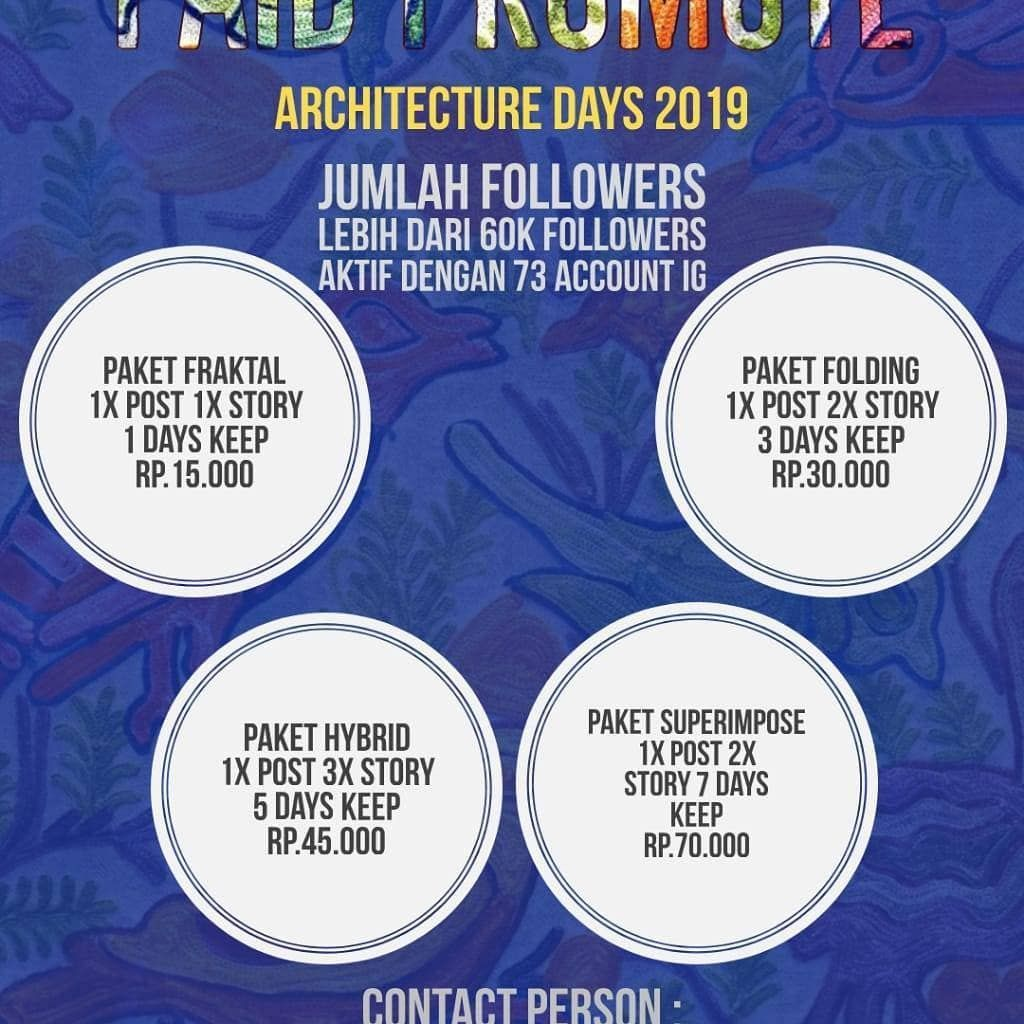[OPEN PAID PROMOTE ARCHITECTURE DAYS ITN MALANG 2019