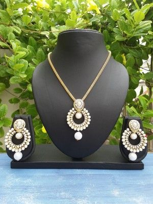 White pearl necklacesets Indian jewellery designs jewellery designs