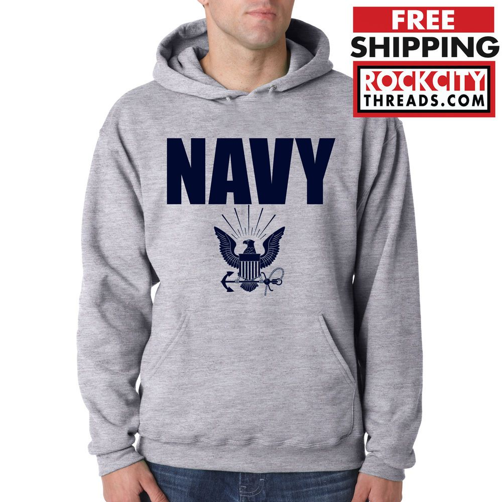 Navy Hoodie Gray Military Hooded Sweatshirt Blend Seal Us U S Navy Usnavy Usa Sweatshirts Navy Hoodie Grey Hoodie [ 1000 x 1000 Pixel ]