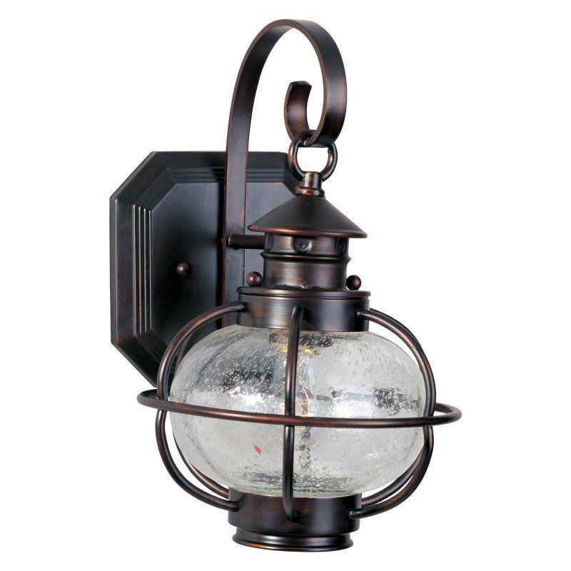 Maxim Portsmouth Outdoor Wall Lantern - 13H in. Oil Rubbed Bronze - 30502CDOI