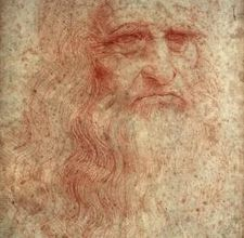 Self Portrait done in Pastels. Leonardo da Vinci.