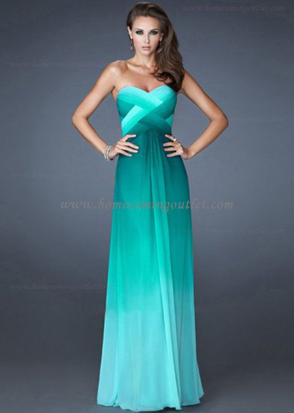 Multi-Tonal Ombre Long Jade La Femme 18525 Prom Dresses for Cheap ...
