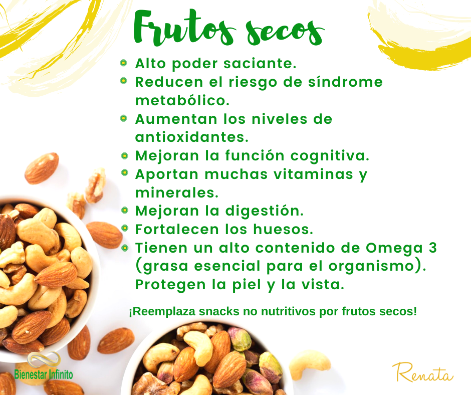 Frutos secos Beneficios de alimentos, Tips nutricion