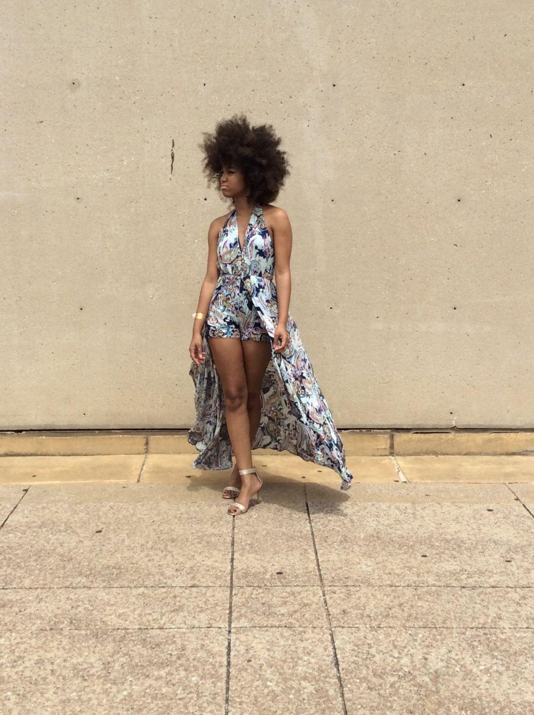 0d22d783c66 New..Navy Paisley Print Short Maxi Romper Jumpsuit Halter Back Long Train  Dress  Summer  romper  jumpsuit  paisley  fashion  afro  naturalhair  boho    ...