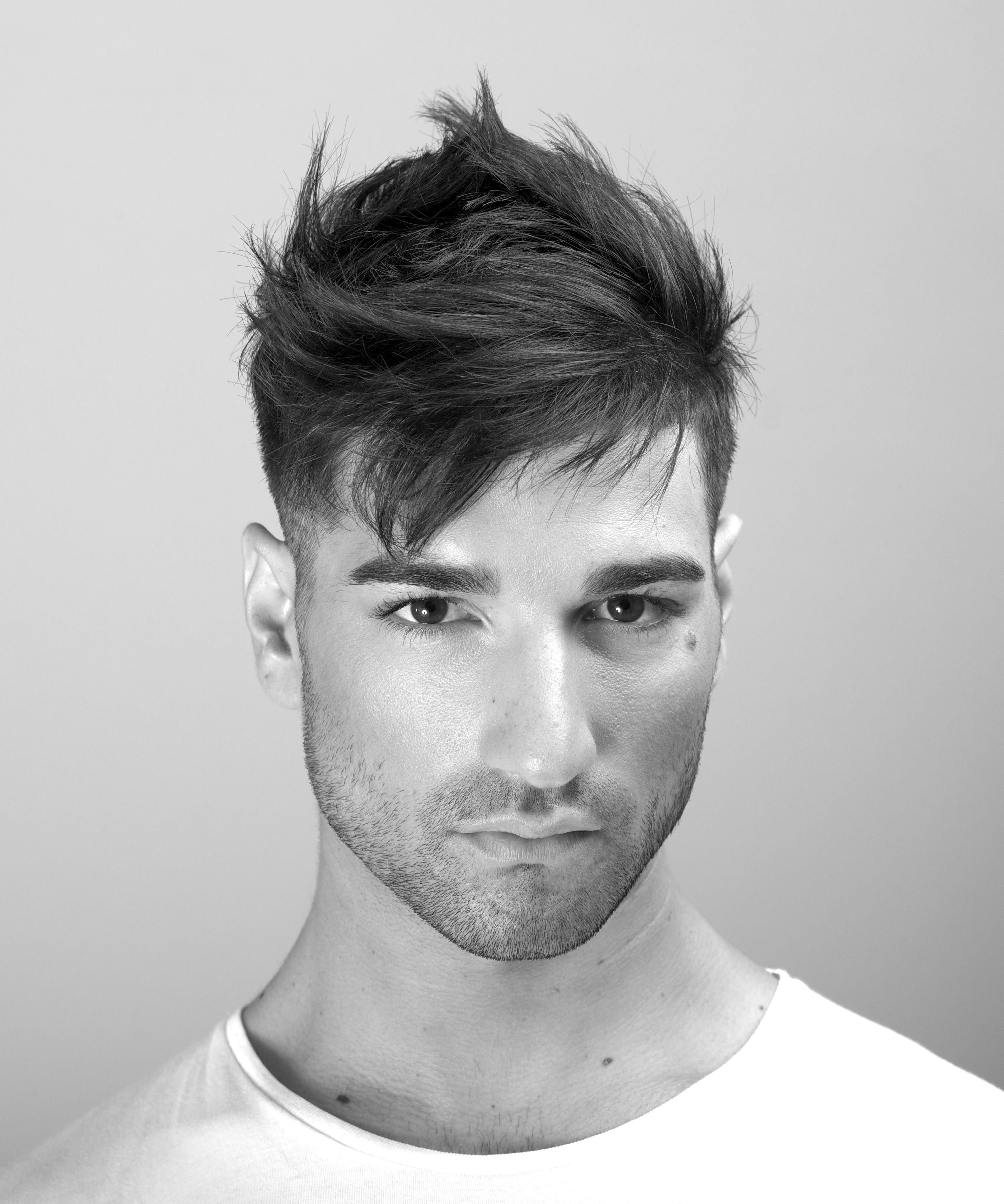 Textured fade men s haircut