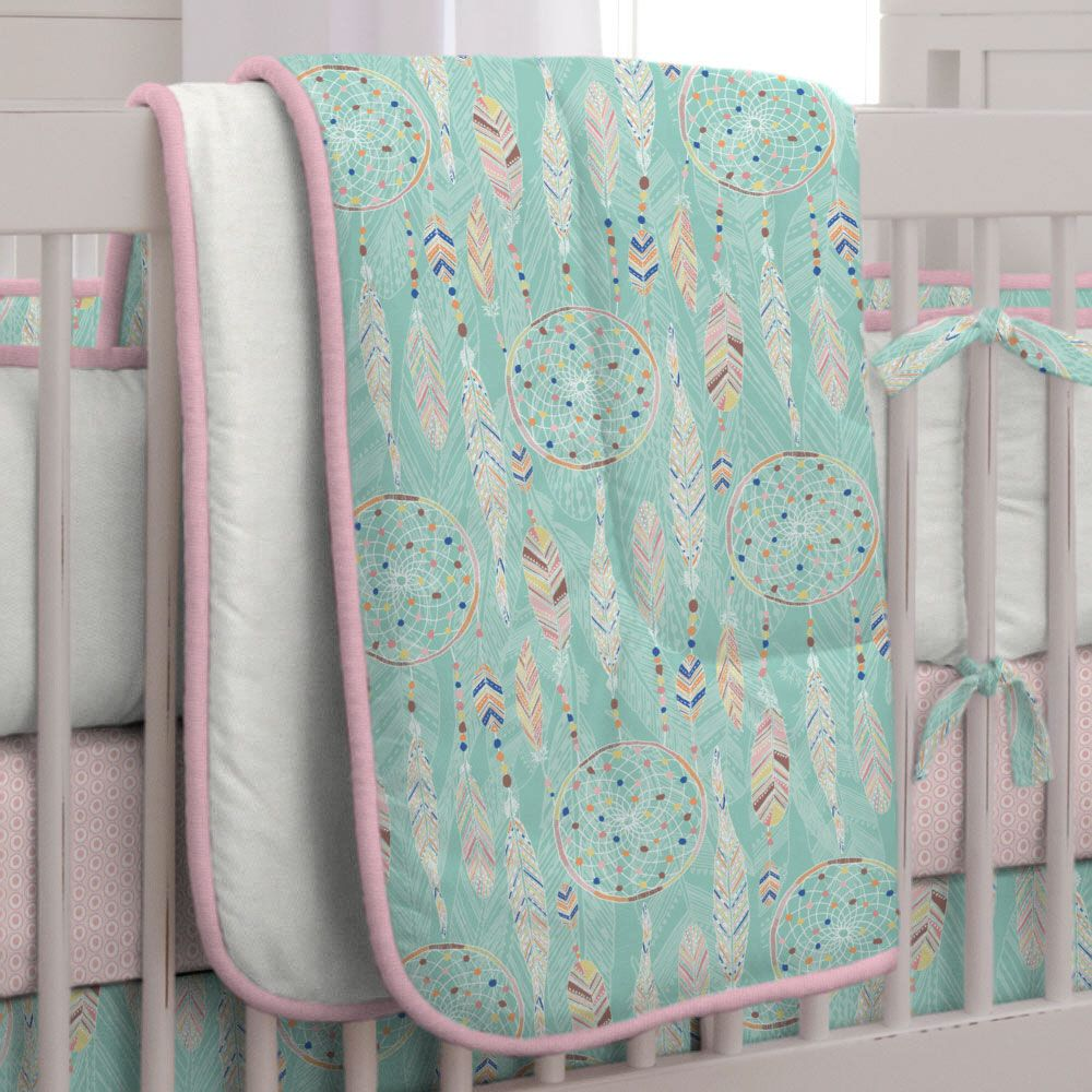 Dream Catcher Crib Bedding Pleasing Dream Catcher Threepiece Crib Bedding Set  Carousel Designs  Baby Decorating Inspiration