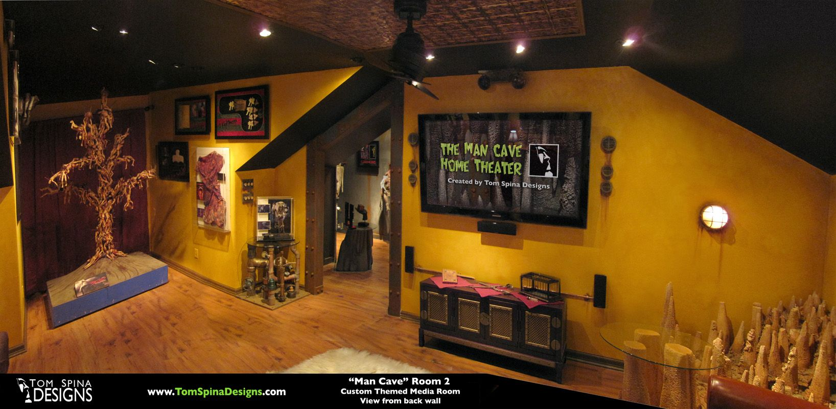 ultimate basement man cave. Custom Man Cave - Horror Themed Home Theater \u0026 Movie Prop Museum Tom Spina Designs Ultimate Basement A
