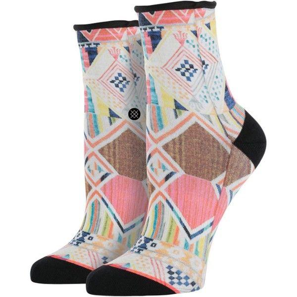 Stance Tetris Lowrider Sock ($12) ❤ liked on Polyvore featuring intimates, hosiery, socks, print socks, stance socks, patterned hosiery et patterned socks