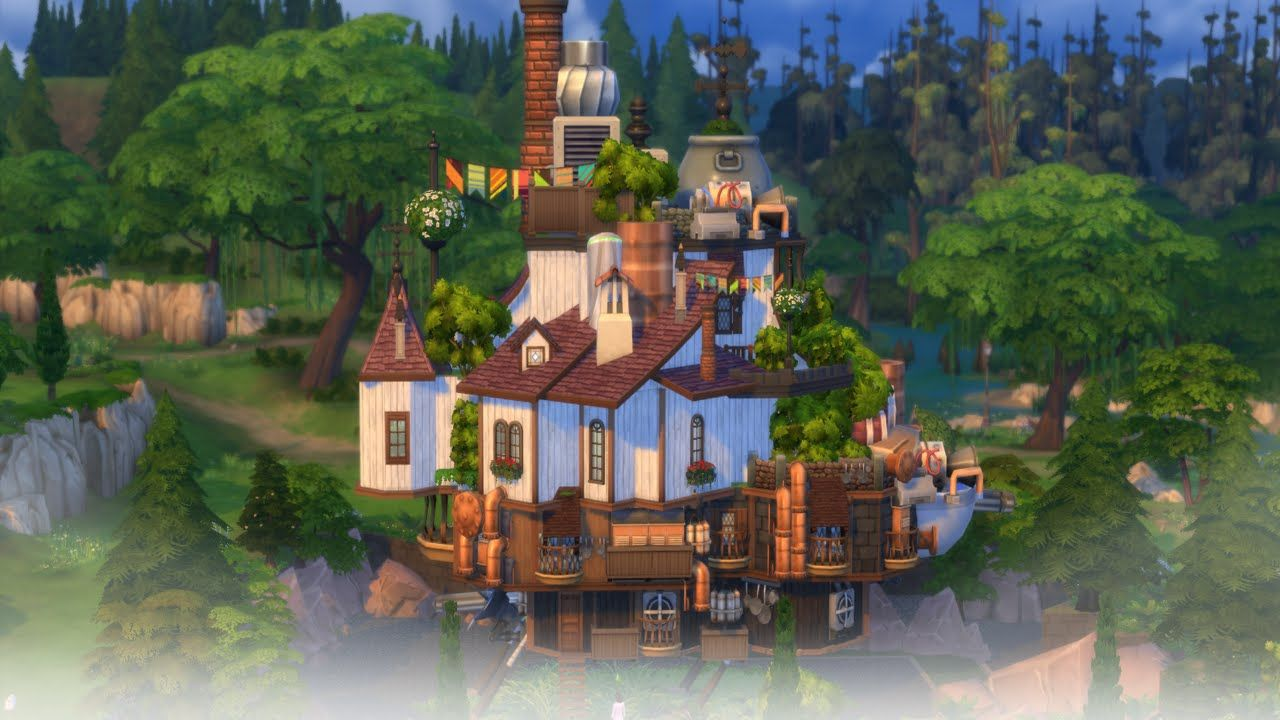 The Sims 4 Speed Build : Howl's Moving Castle Part 1 | Sims