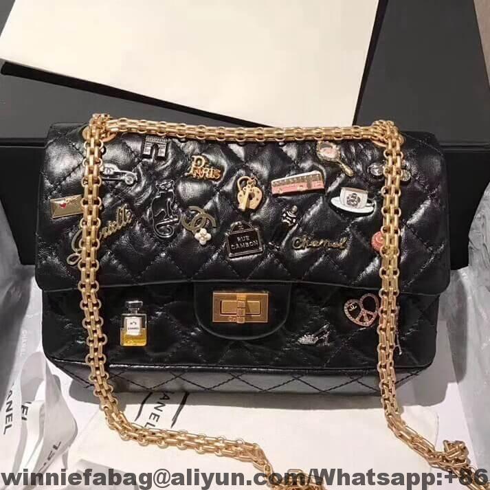 3229c2cb656e Chanel Aged Calfskin Lucky Charm 2.55 Reissue Size 225 Bag 2018 ...