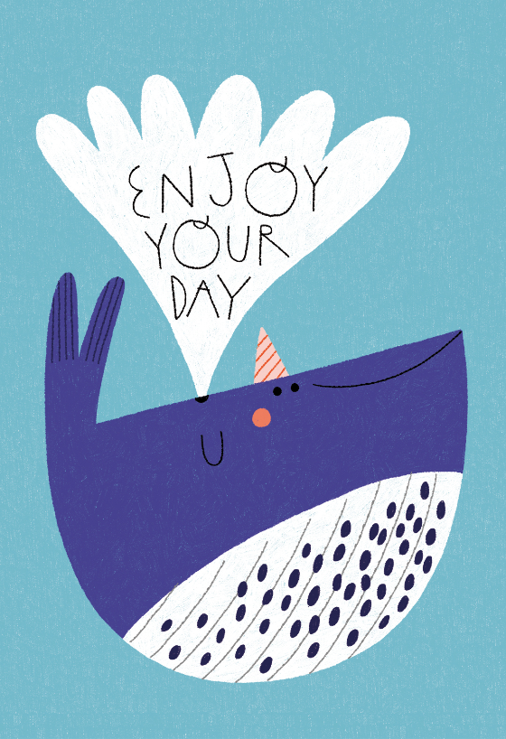 Happy Whale Birthday Card Free Greetings Island Happy Birthday Illustration Happy Birthday Art Birthday Illustration