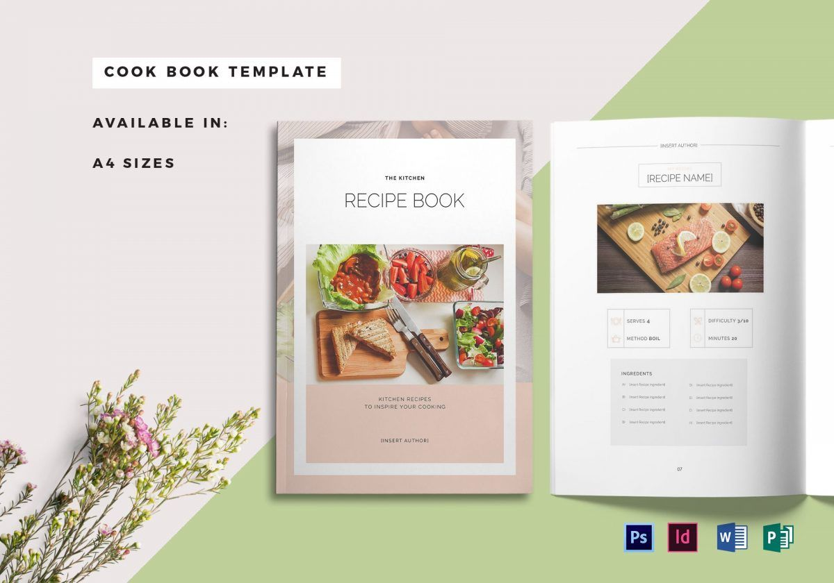 Cookbook Template For Word from i.pinimg.com