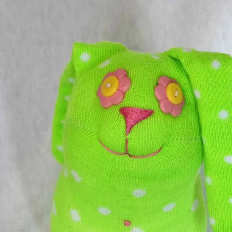 Bloom Bunny, handmade sock bunny plush #bunnyplush