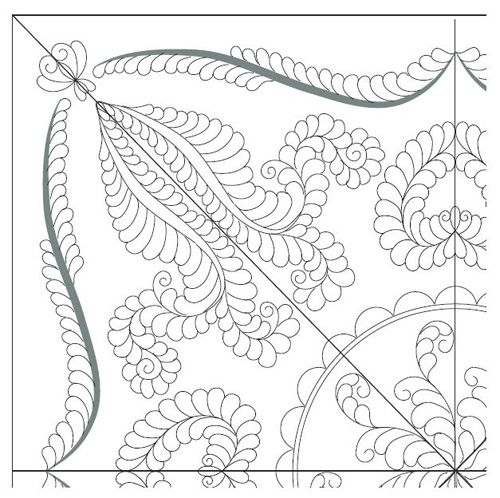 How to design a wholecloth quilt by Renae Allen - Quarto Decennie ... : whole cloth quilt stencils - Adamdwight.com