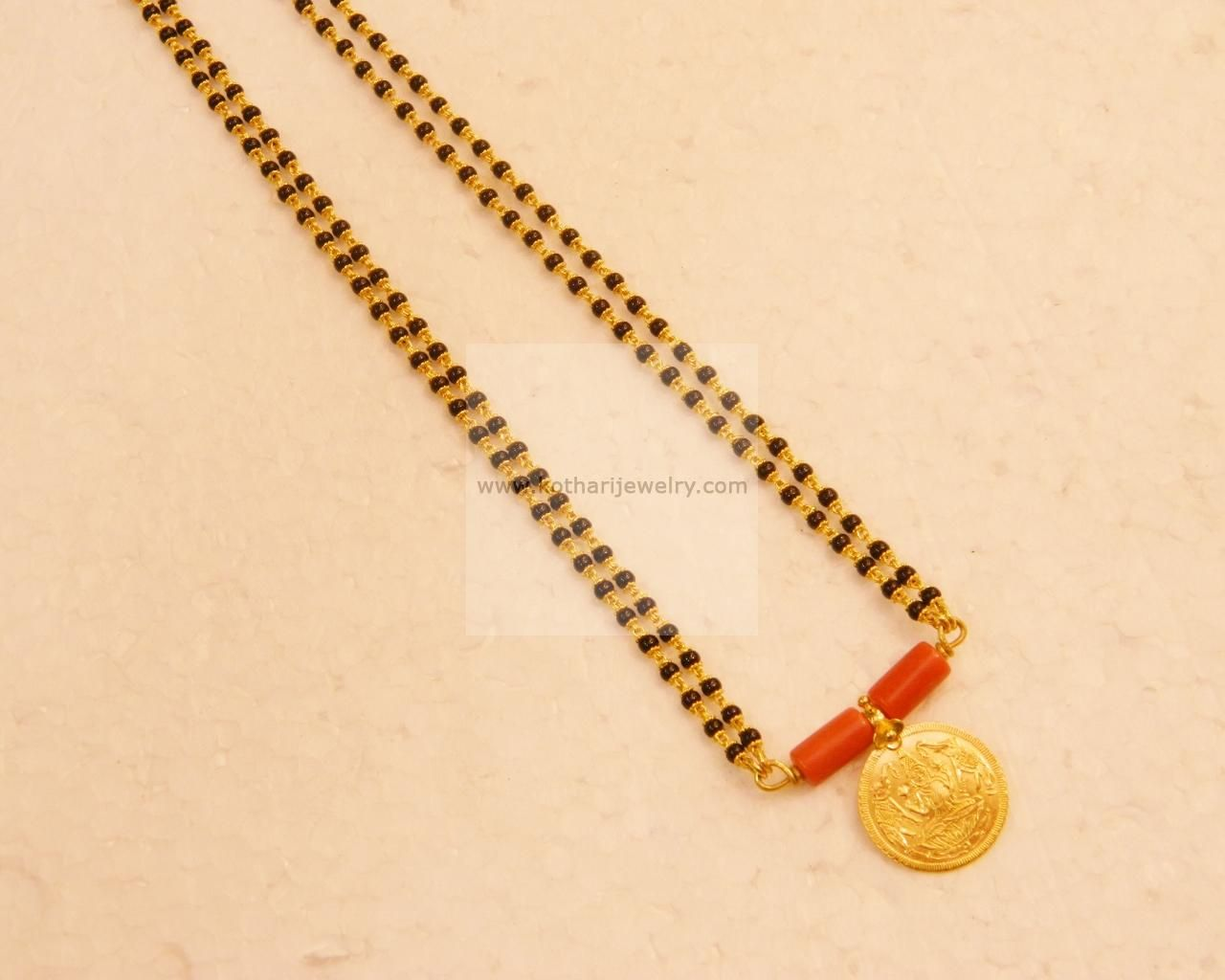 Coral manglsutra | Gold jewelry | Pinterest | Pearl chain, Jewel and ...
