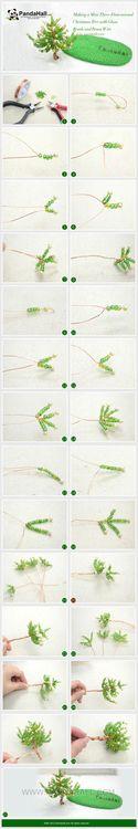TUTORIAL TUESDAY: DIY Dimensional Beaded Christmas Tree | PandaHall Beads Jewelry Blog