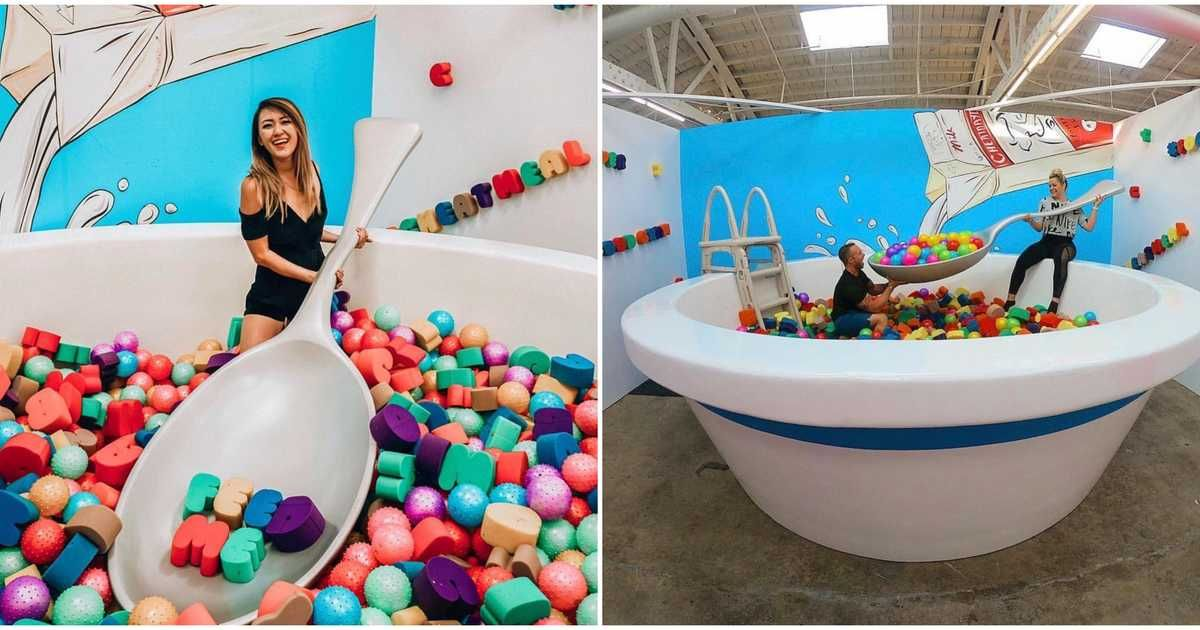 You Can Jump In A Giant Bowl Of Cereal & Climb A 'Food