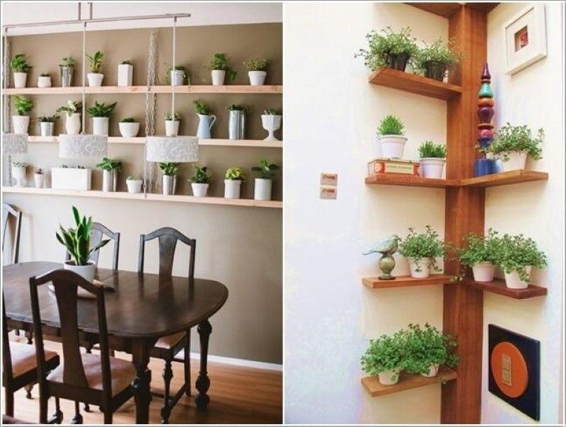 15 gro artige ideen deine zimmerpflanzen aufzustellen - Diy pflanzenwand ...