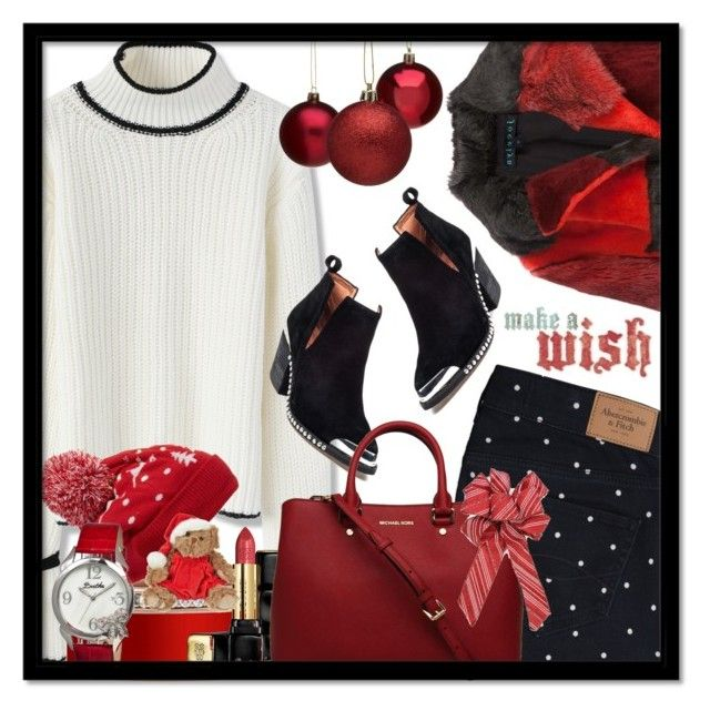 """""""Sweater Weather"""" by nightowl59 ❤ liked on Polyvore featuring Jocelyn, Abercrombie & Fitch, Chicwish, Jeffrey Campbell, Bohemia, Collection XIIX, Guerlain, Bertha, polyvoreeditorial and wintersweater"""