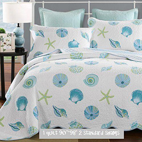 Brandream Queen Size Beach Theme Comforter Set Nautical Bedding Set