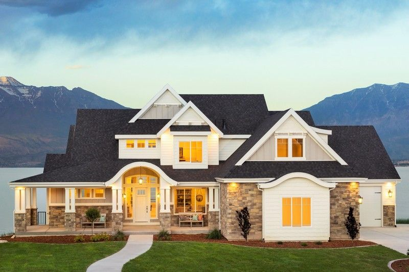 craftsman style house plan 6 beds 5 baths 6636 sqft plan 920 - Exterior House Plans