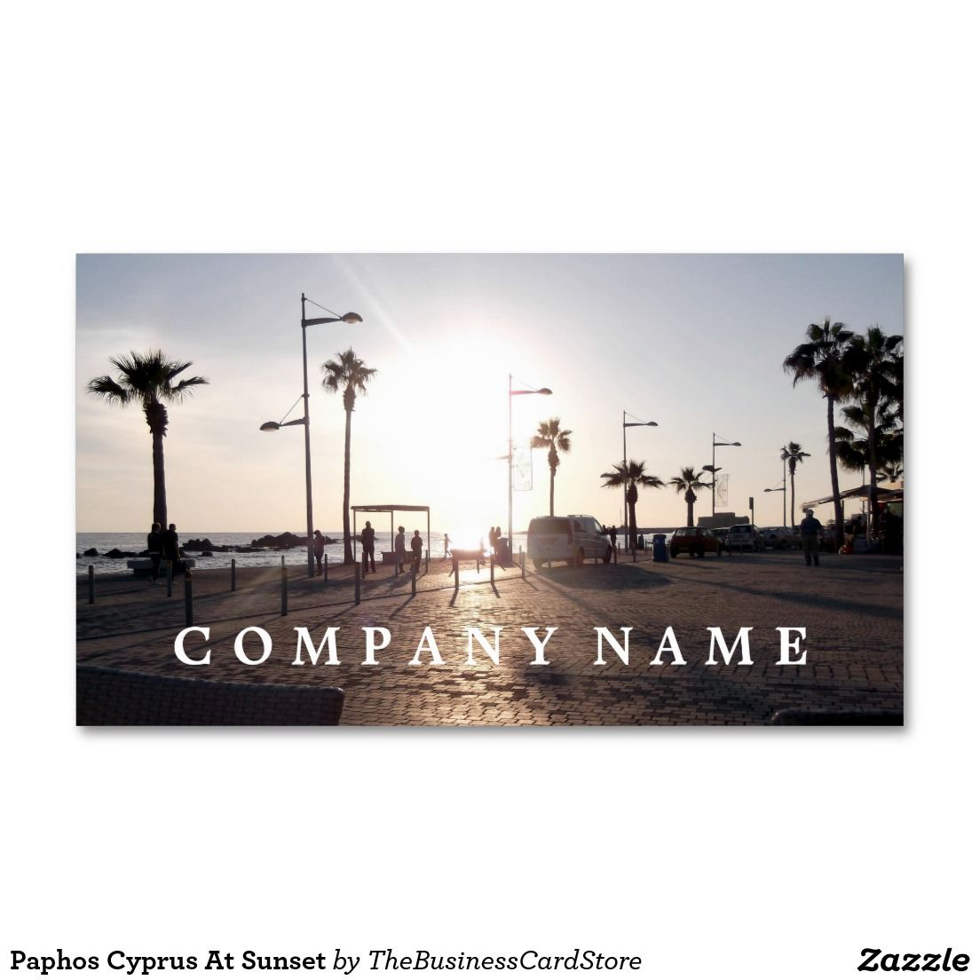 Paphos cyprus at sunset business card cypriot and greek business paphos cyprus at sunset business card reheart Image collections