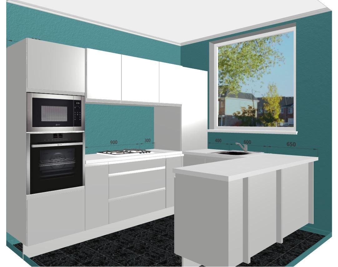 Modern Kitchen Design. Glossy White Cabinets with White Quartz ...