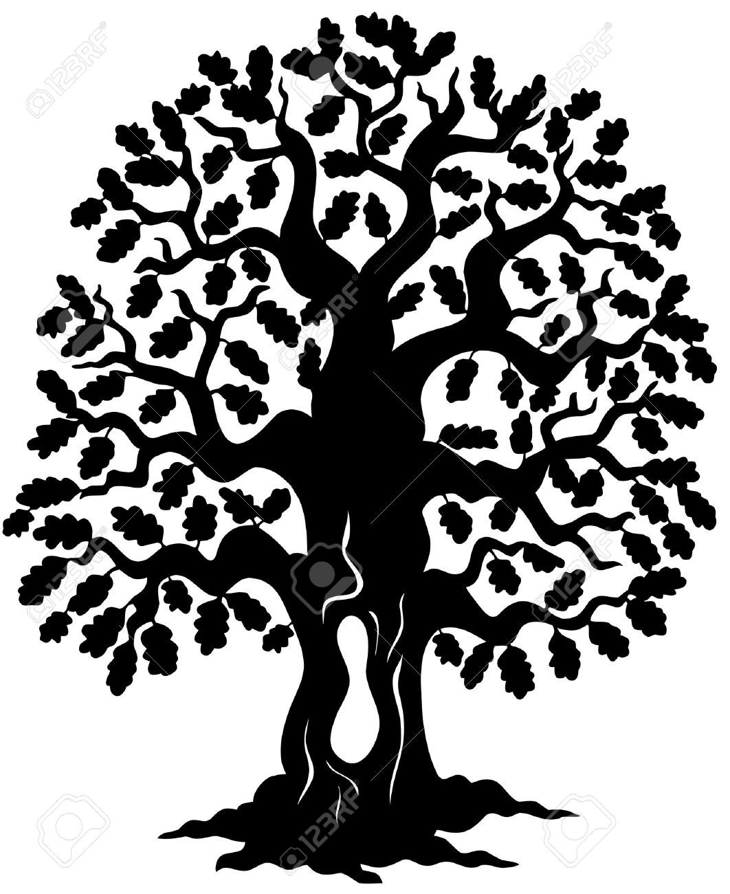 oak tree silhouette cliparts stock vector and royalty free oak rh pinterest com au oak tree vector download vector art oak tree