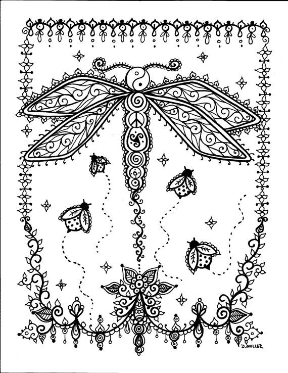 Instant Télécharger Butterfly Coloring pages 5 par ChubbyMermaid
