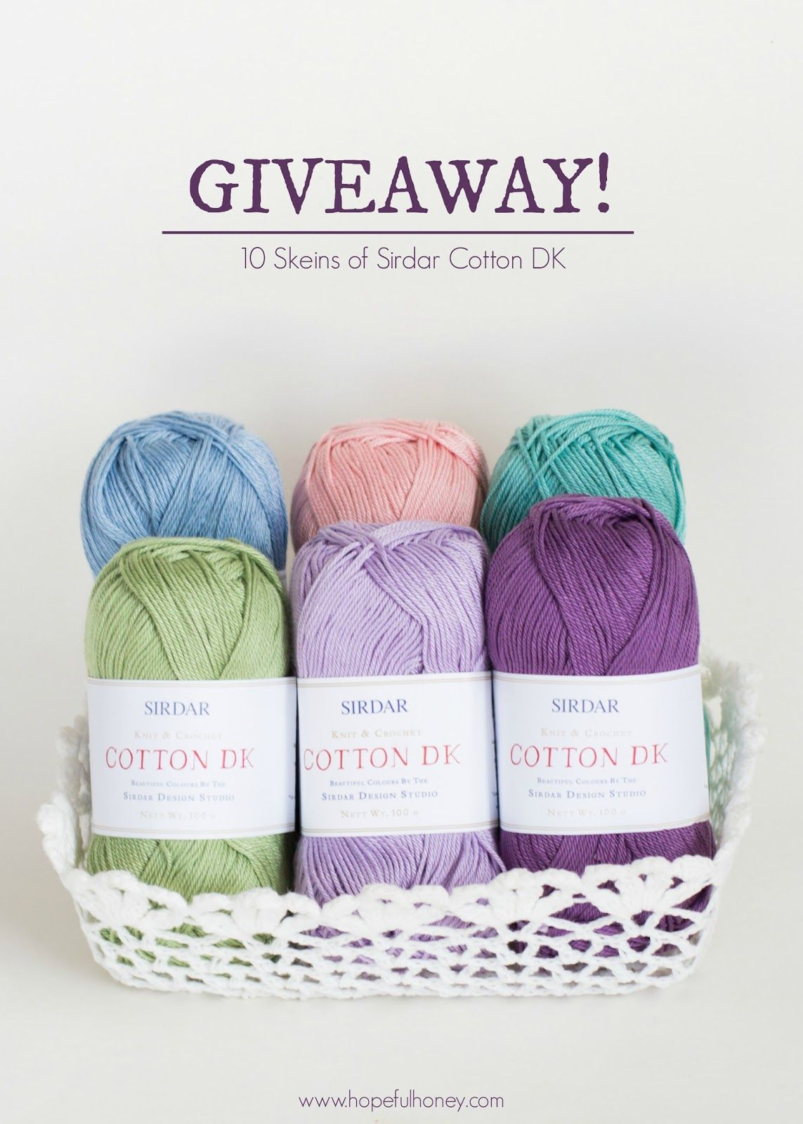 10 Skeins Of DK Cotton Yarn Giveaway with Sirdar! | Projects to Try ...