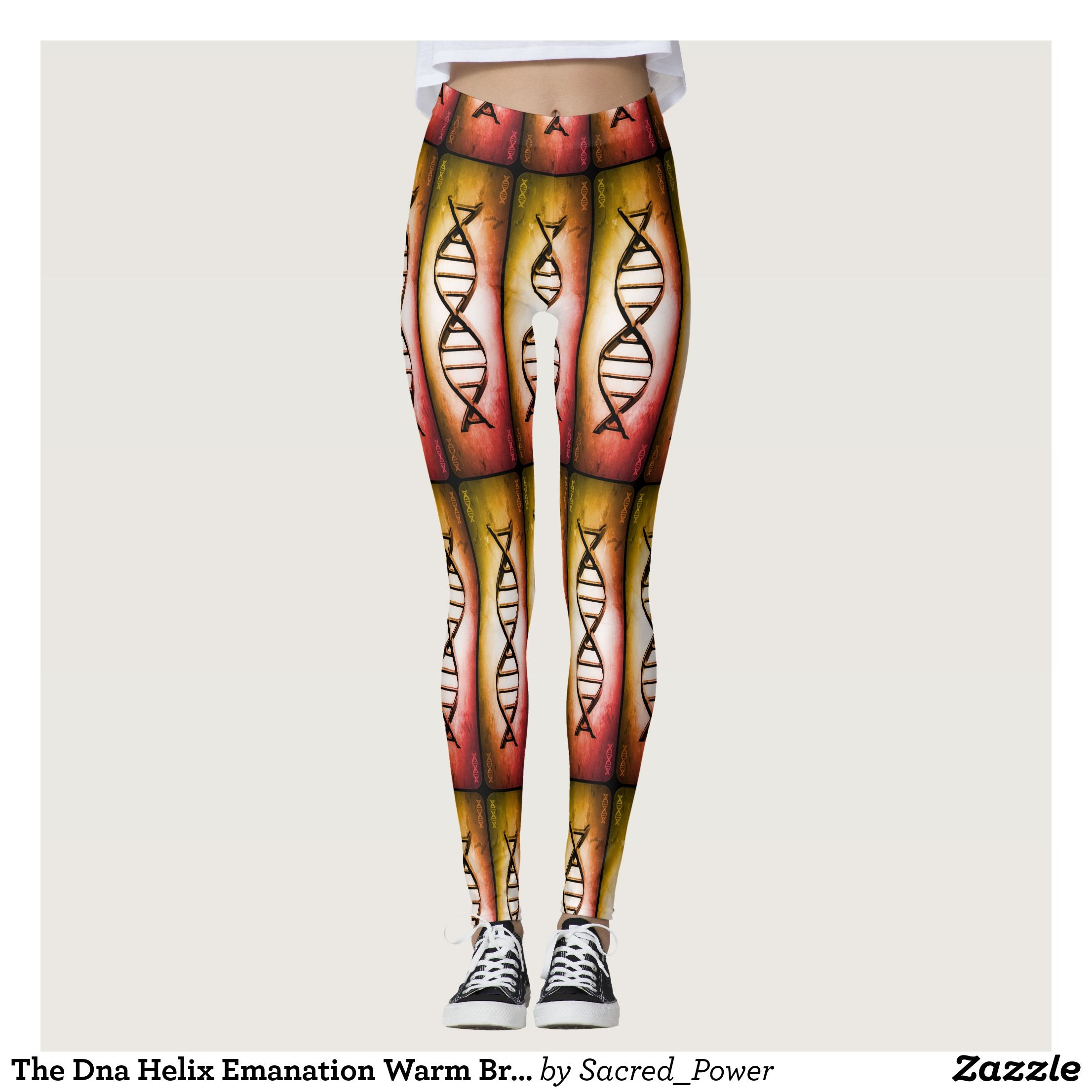 The Dna Helix Emanation Warm Bright Leggings Beautiful Yoga Pants