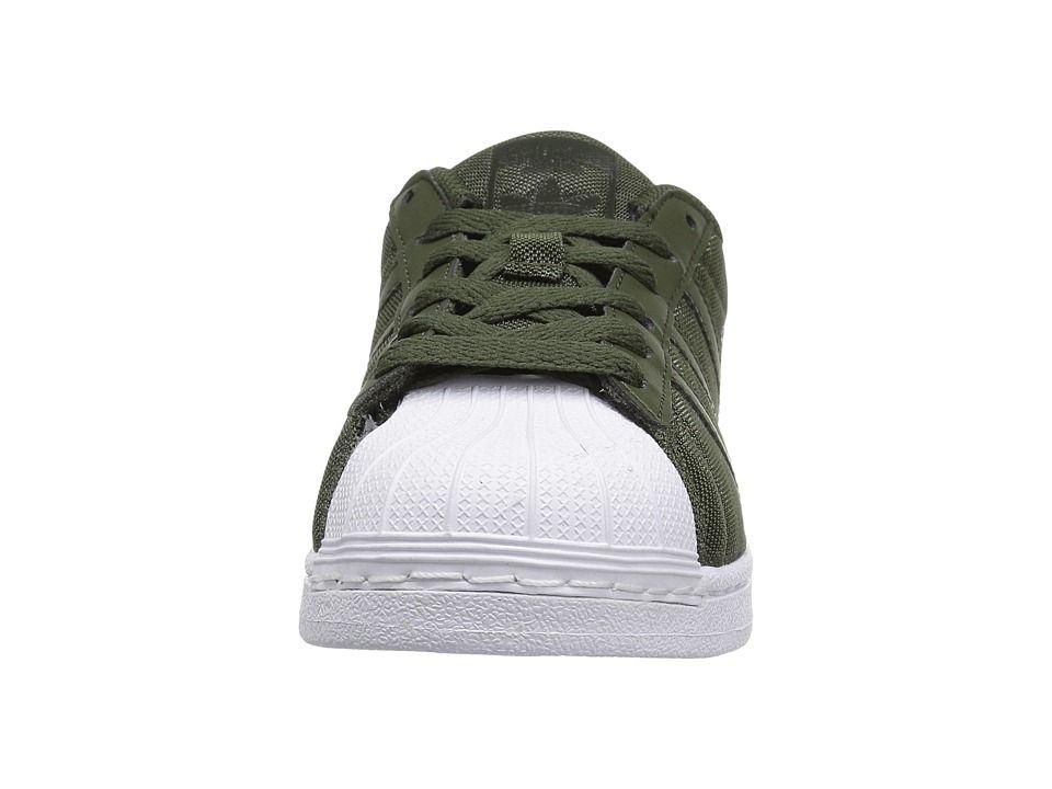 54deccd8d3f7 adidas Superstar Glitter Mesh (Big Kid) Originals Kids Boys Shoes Night  Cargo Night Cargo White