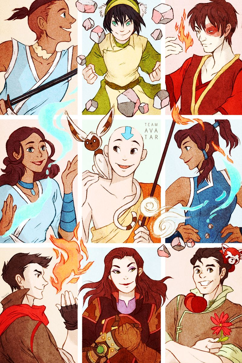 Two Generations of Team Avatar by torisora