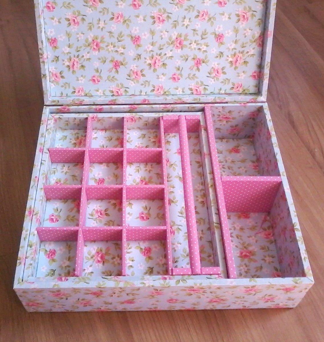 Caixa Porta Joias Floral Com Dobradicas Caixa Porta Joias