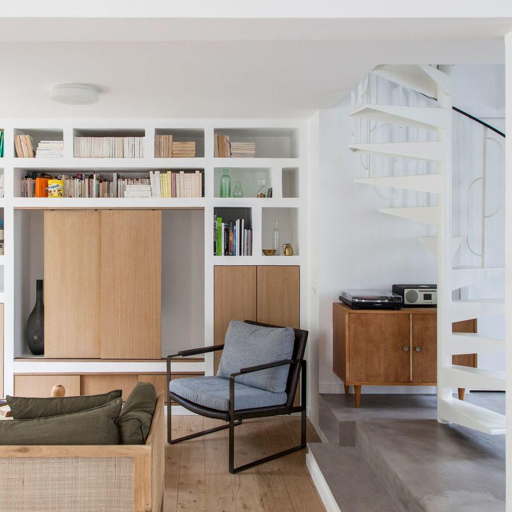 Maison De Ville Ecorenovee A Chatillon En 2020 Maison De Ville Habitation Moderne Meuble De Cuisine Ikea