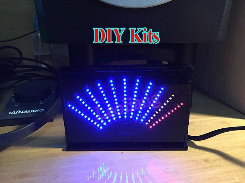 DIY Audio Level Meter Blue LED Display Music Spectrum Analyzer Kit