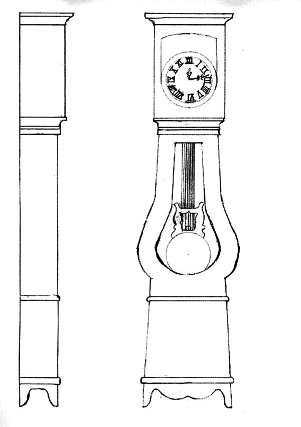 Designing Grandfather Clock Coloring Pages Color Luna Grandfather Clock Coloring Pages Design