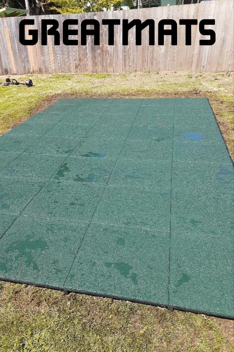 Rubber Playground Tile Rubber Interlocking 2 75 Tile In 2020 Playground Tile Rubber Playground Rubber Tiles Playground