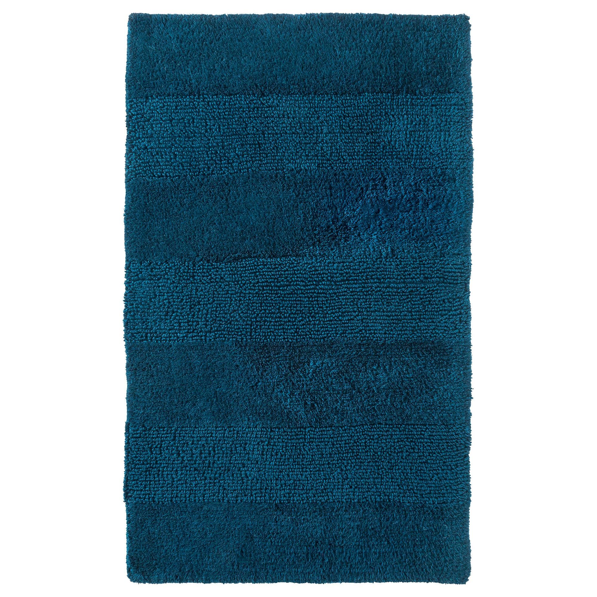 Tonal Stripe Bath Rug Siam Blue (24x38) - Nate Berkus | Bath rugs ...