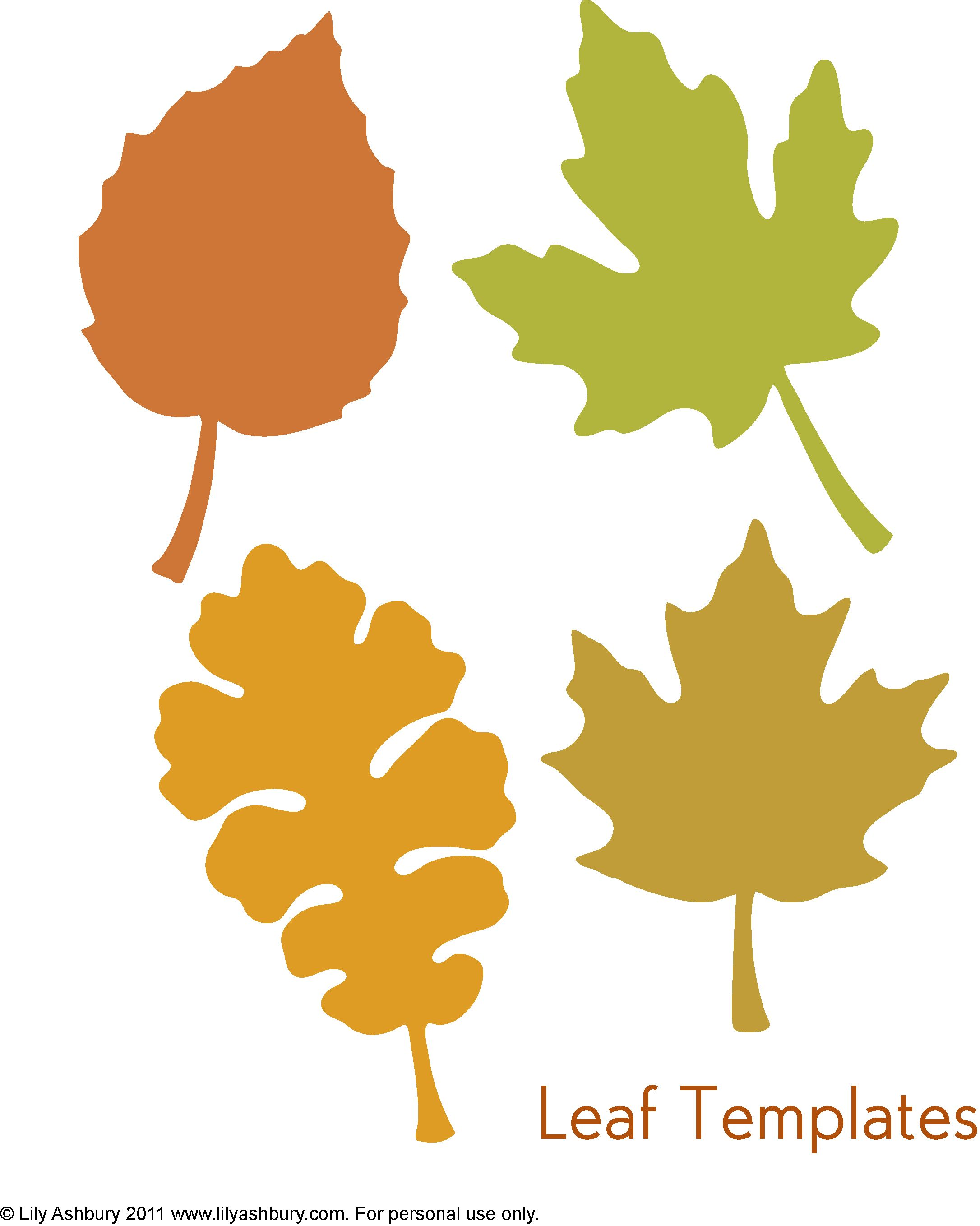 Leaf Template Printables