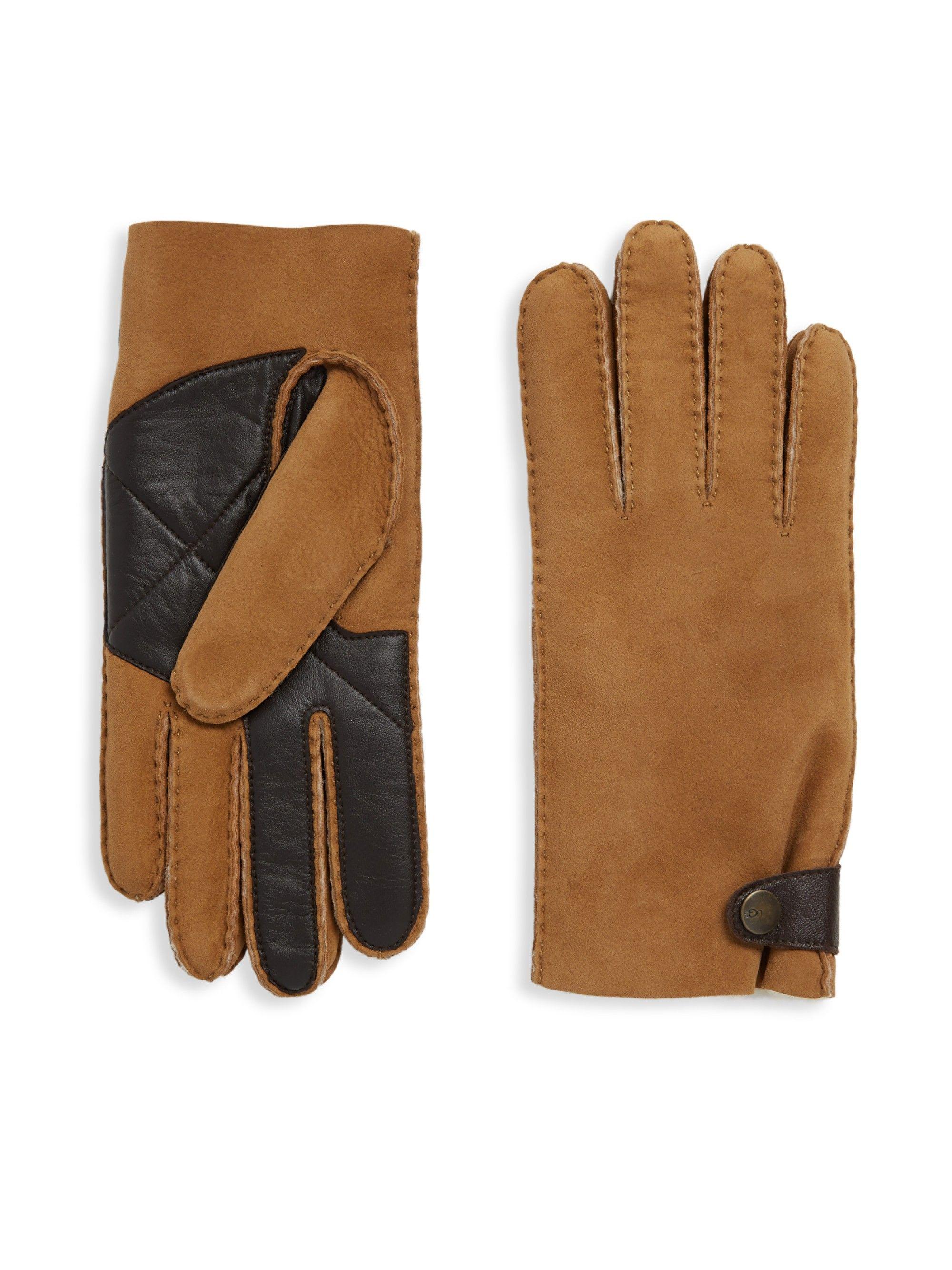 UGG Sheepskin Snap Tab Smart Gloves. #ugg # | Ugg Men | Uggs