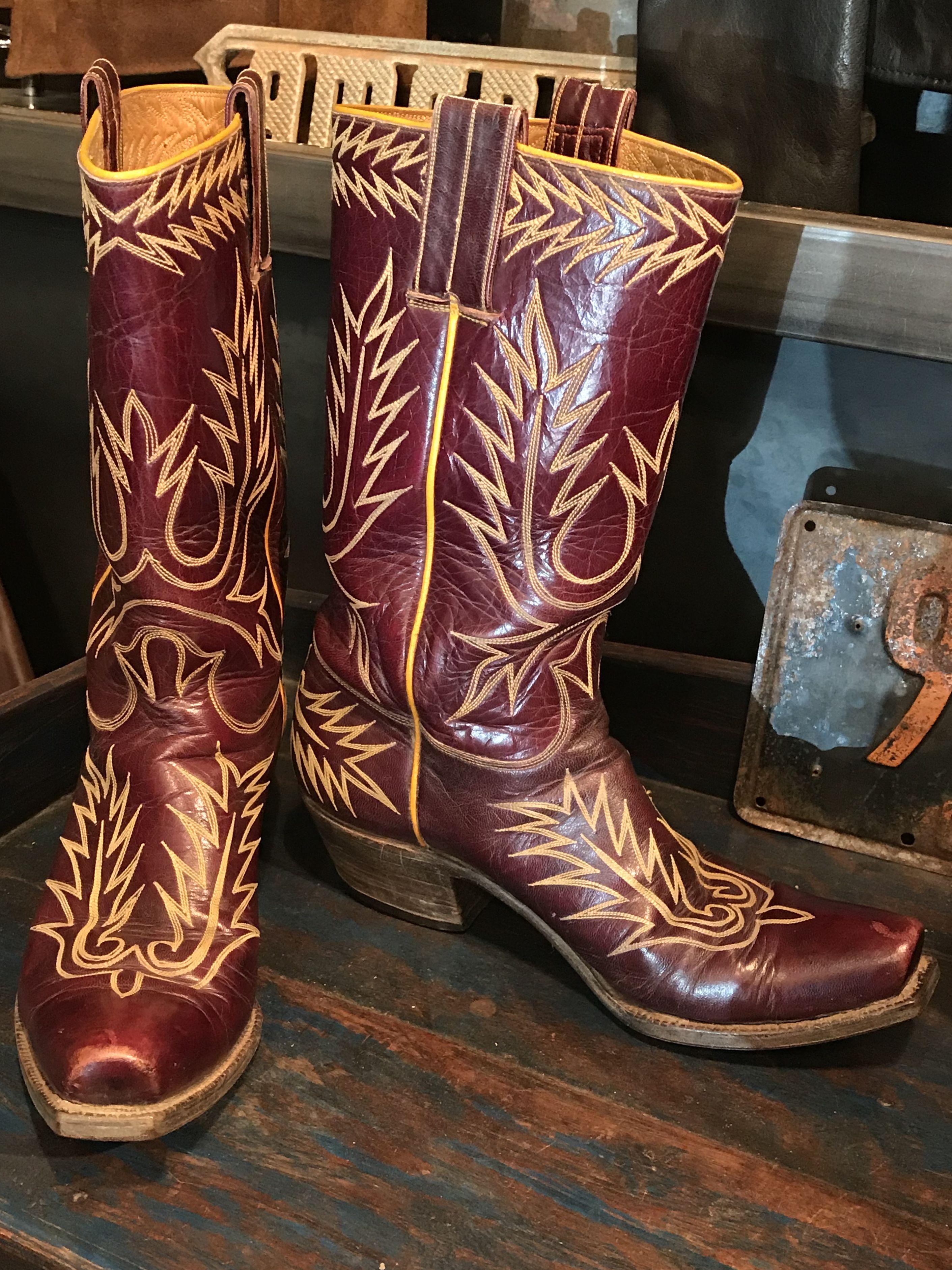 Vintage Stewart Romero Cowboy Boots in