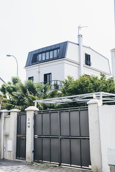 Surélévation de maison  un exemple réussi en région parisienne - exemple de facade de maison