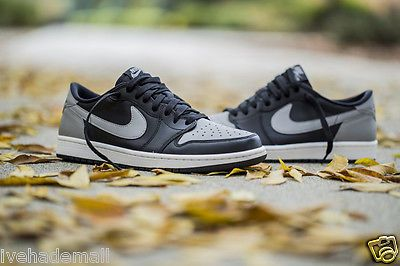 61f7dc24fa96 Nike Air Jordan 1 Low GS Retro Black Medium Grey Shadow 709999-003 Grade  School